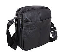 Мужская кожаная сумка Dovhani Dov-1025 Черная, фото 1