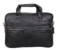 Чоловіча шкіряна сумка Dovhani Dov-1120-1 Чорна, фото 1