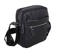 Мужская кожаная сумка Dovhani Dov-3922 Черная, фото 1