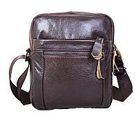 Мужская кожаная сумка Dovhani Dov-3922 Коричневая, фото 1