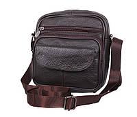 Мужская кожаная сумка Dovhani Dov-11014 Коричневая, фото 1