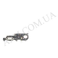 Шлейф (Flat cable) Xiaomi Mi Max 3, с разъемом зарядки, Type-C, с микрофоном, плата зарядки