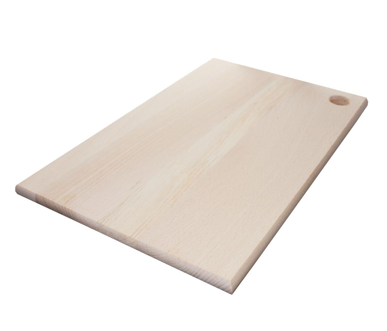 Доска кухонная Mazhura  прямоугольная с отвором 40х25 см h1,5 см (370814mz)
