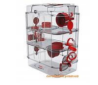 Клетка для хомяка мелких грызунов Zolux TRIO Rody 3 Красная