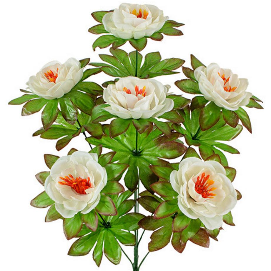 Букет роза-камелия высокая, 59см.(по 10 шт. в уп)