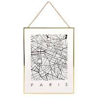 ?Декор настенный Карта на стекле, Париж (IMP_1_PARIS)