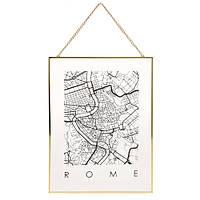?Декор настенный Карта на стекле, Рим (IMP_1_ROME)