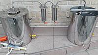 Дистиллятор Двойной  очистки с ДВУМЯ РАЗБОРНЫМИ  сухопарниками ароматизаторами.