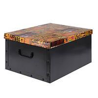 Коробка для хранения с крышкой (черная), 49,5х39х24 см (IMP_17_3)