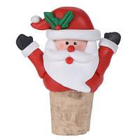 Пробка для бутылки новогодняя Санта (IMP_NG_44_2_SANTA)