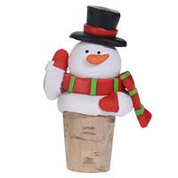 Пробка для бутылки новогодняя Снеговик (IMP_NG_44_4)