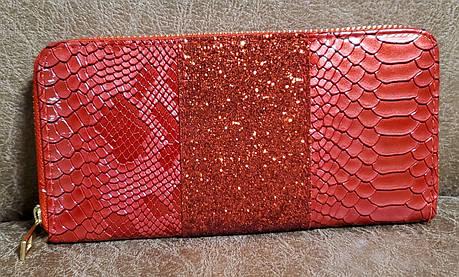 Кошелек женский №044 (19*10*2) красный, фото 2
