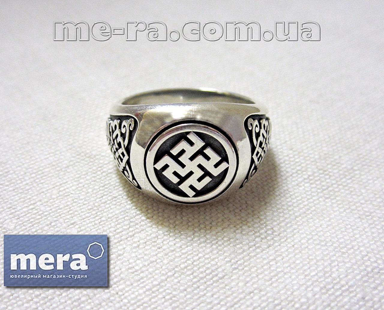 Одолень Трава перстень из серебра 925 пробы