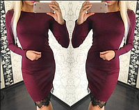 Облегающее платье с кружевом