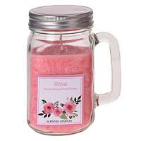 Свеча в стеклянной кружке Jar (роза) (IMP_25_ROS)