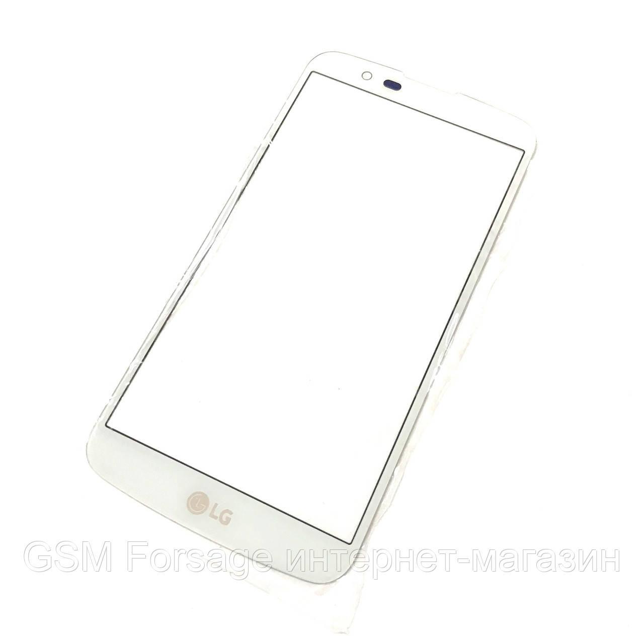 Стекло дисплея LG K10 K410 / K10 K420N / K10 K430DS / K10 K430DSF White (для переклейки)