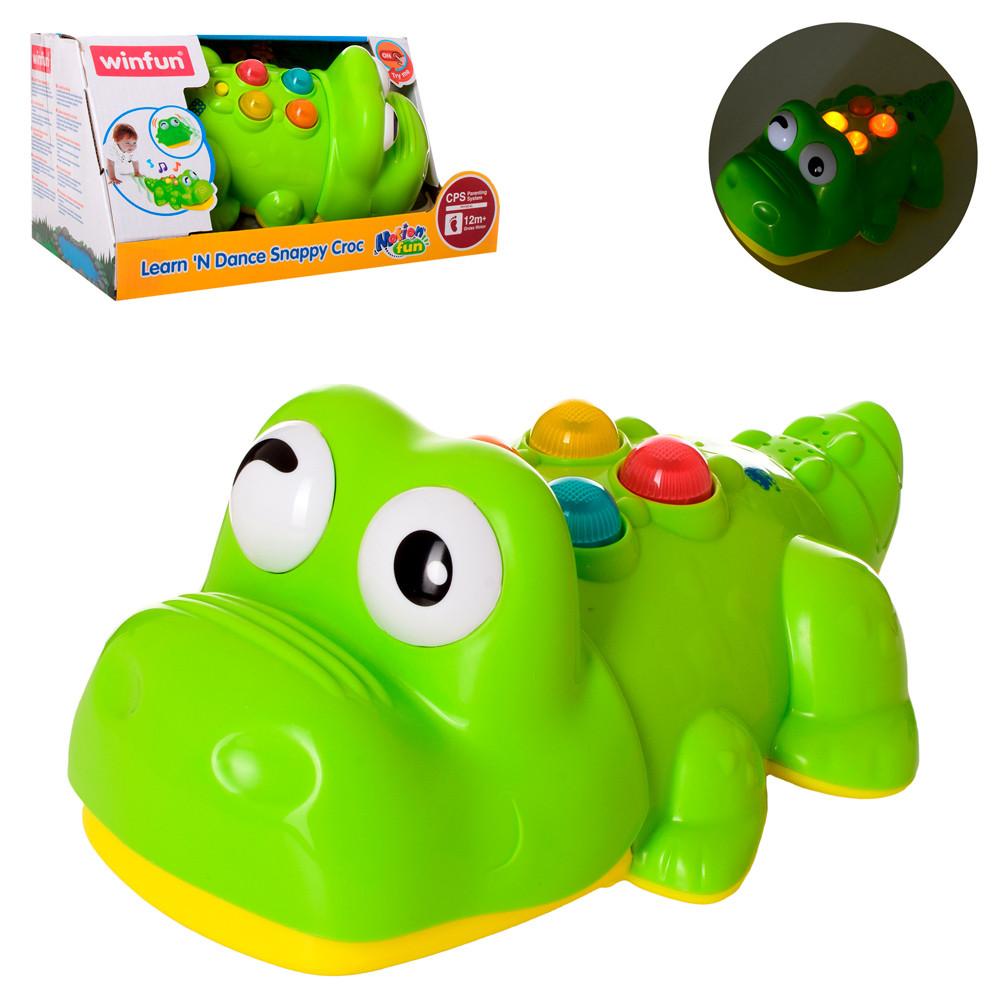 """Игра Win Fun """"Крокодил"""", музыка, звук, свет, 0699-NL"""