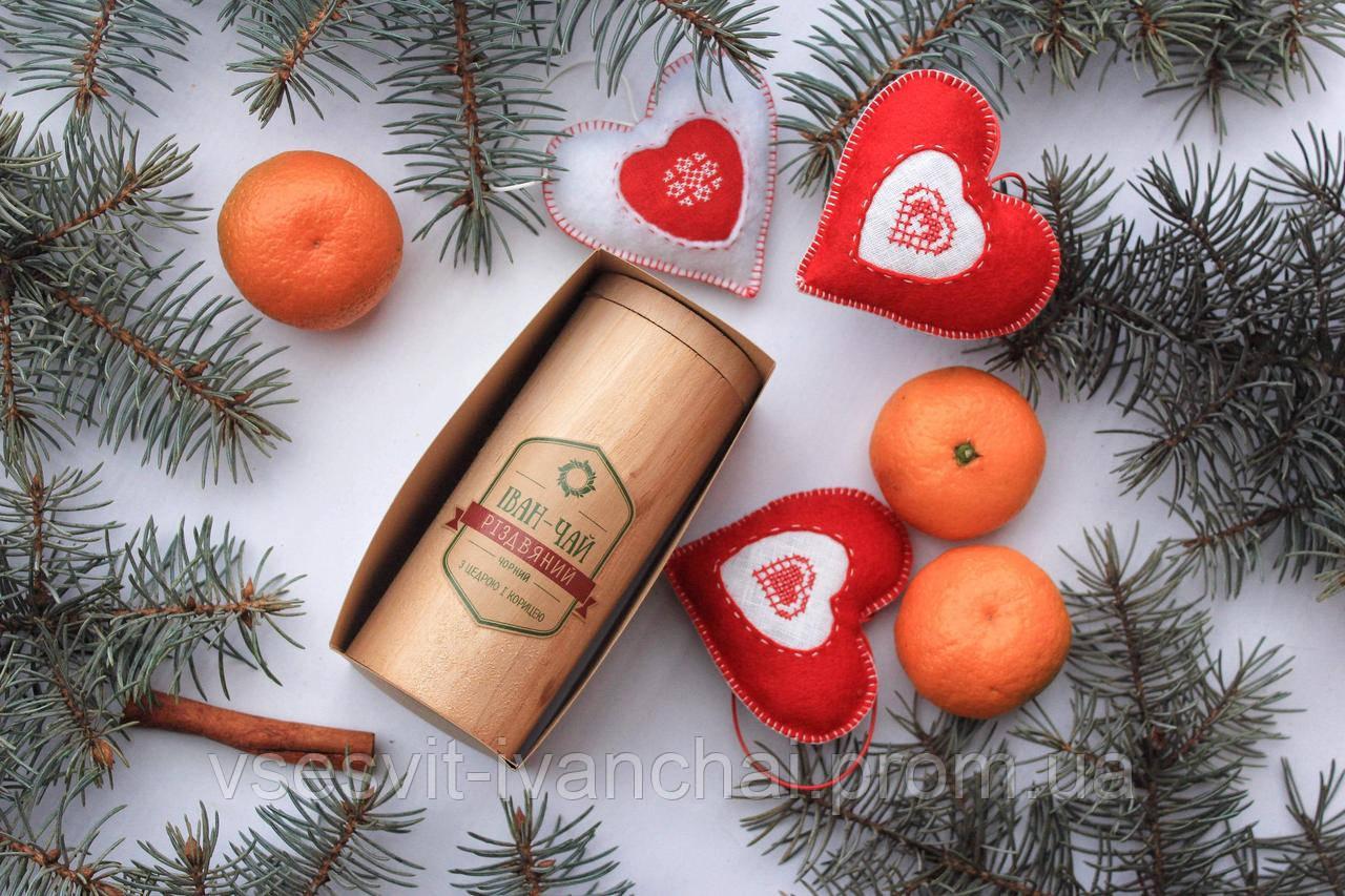 Іван-чай Різдвяний (иван-чай с корицей и цедрой в деревянном тубусе)