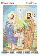 """""""Святое Семейство """".  Схема для вышивки бисером. Рус."""