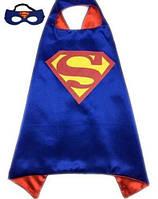 Карнавальный костюм: плащ и маска Супермена для мальчика 2-6 лет