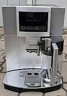 Кофемашина Делонги  Delonghi Esam 5600 Perfecta серебристая текстовое меню сенсорная с молочником