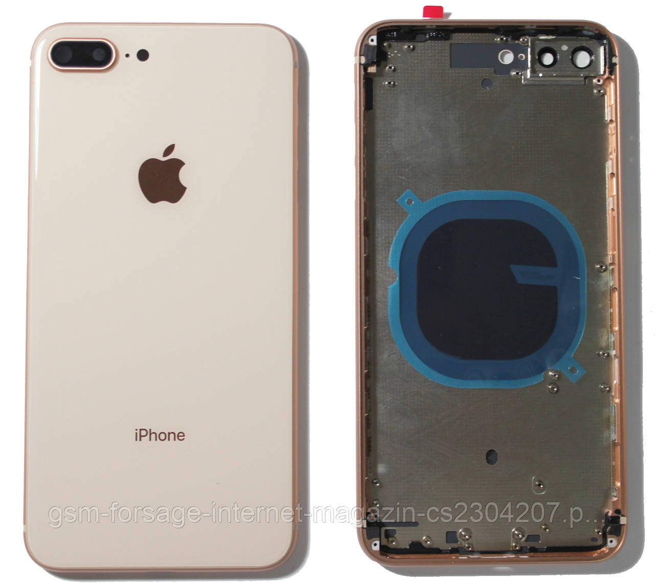 "Крышка задняя iPhone 8 Plus (5.5"") с рамкой Gold"