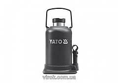 Домкрат гидравлический бутылочный YATO 30 т 244-492 мм