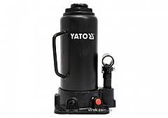 Домкрат гидравлический бутылочный YATO 12 т 230-465 мм YT-17005