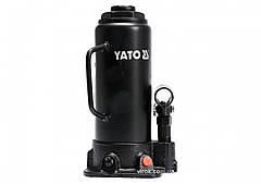 Домкрат гидравлический бутылочный YATO 10 т 230-460 мм YT-17004