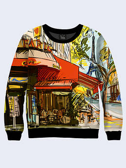 Женский свитшот Улочки Парижа. Размер 42 - 50