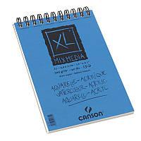 Альбом для акварели Canson XL на спирали, 14,8x21, 300 г/м2, 15 лист. альбомн.форм. (CON-200001872R)
