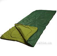 Спальный мешок на молнии Руно зеленый  размер 200 х 85 х 2 см, плотность 300 гр/м.кв