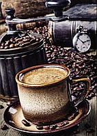 """Алмазная вышивка """"Вкусный кофе в зернах"""",полная выкладка ,мозаика 5d, наборы 30х40 см"""