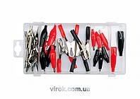 """Кліщі контактні електричні """"крокодильчики"""" різні YATO, набір 28 елементів YT-06870"""