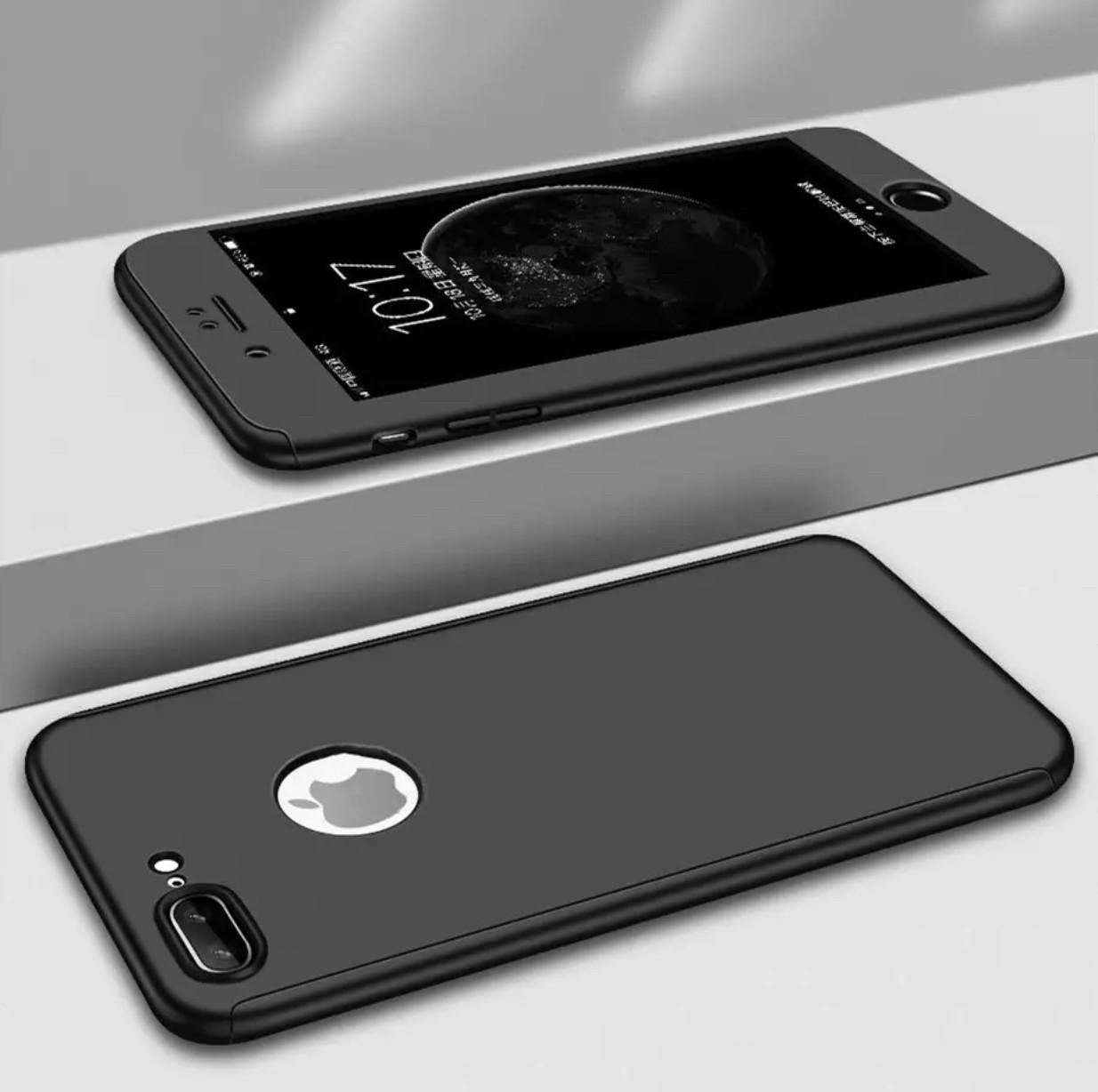Чехол 360  для Iphone 6/6s противоударный со стеклом, black
