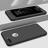 Чехол 360 на Iphone 7/IPhone 8 + стекло в подарок , Black