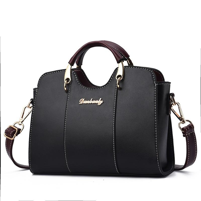 Классическая женская сумочка через плечо, черная WA-2