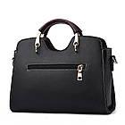 Классическая женская сумочка через плечо, черная WA-2, фото 4