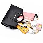 Классическая женская сумочка через плечо, черная WA-2, фото 8