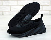 Кроссовки мужские Adidas Sharks черные (ТОП реплика)