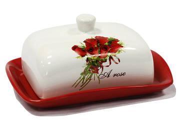 104074-R Маслянка керамічна Interos 1,25 л Троянди