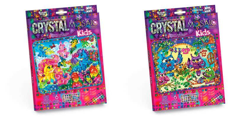 Гр Набор для творчества Crystal Mosaic Kids Данко Тойс 10 видов - 221326