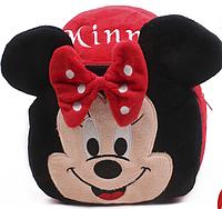 Рюкзак детский плюшевый 1-3 года Мышка Минни Маус для малышей