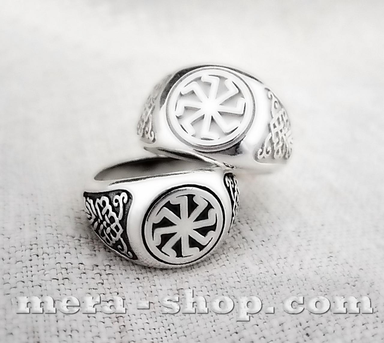 Колядник перстень из серебра 925 пробы
