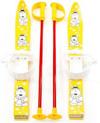 """Дитячі лижі """"KIDS SKI"""", жовті, 6081ЖЕЛТ, фото 2"""