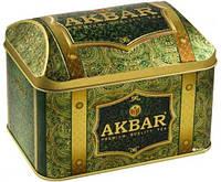 Чай Акбар Зеленый Саусеп 250гр жестяная банка