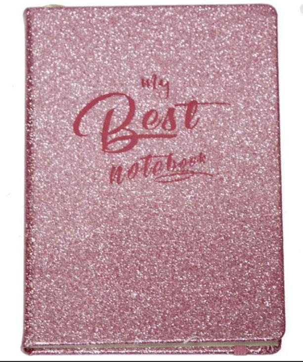 Блокнот на поролоне, розовый глиттер, WB-5695