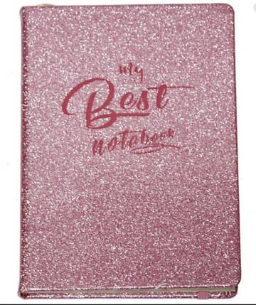 Блокнот на поролоне, розовый глиттер, WB-5695, фото 2