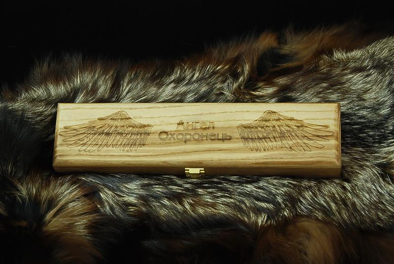 Светлый подарочный футляр для ножа, из дерева