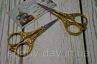 """Ножиці для рукоділля """"Квітка"""", колір - золото"""